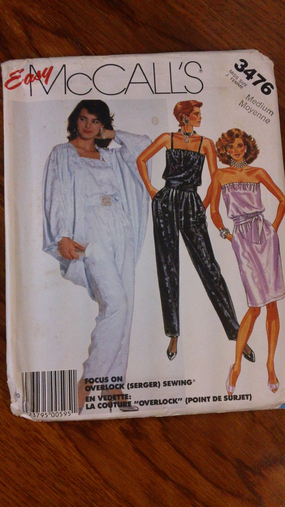 vintage jumpsuit sewing pattern