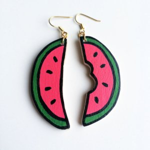 Watermelon earrings 4