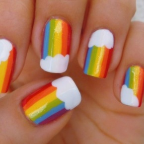 Crushing On: Rainbow Nails
