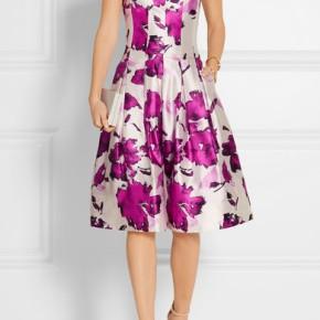Sewing Inspiration:  Oscar de la Renta's Floral Print-SilkDress