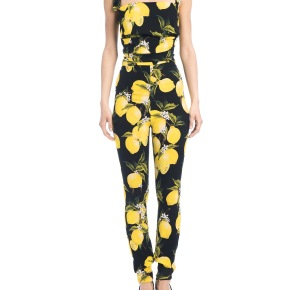 Marjorie Harvey in Dolce & Gabanna's Lemon Printed Jumpsuit