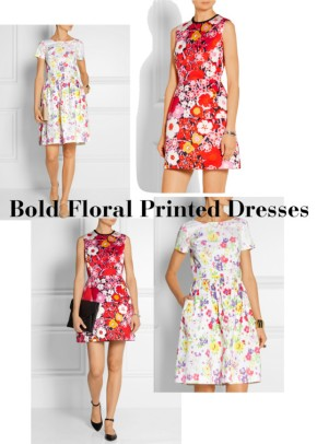 Need Right Now: Bold Floral Printed Dresses