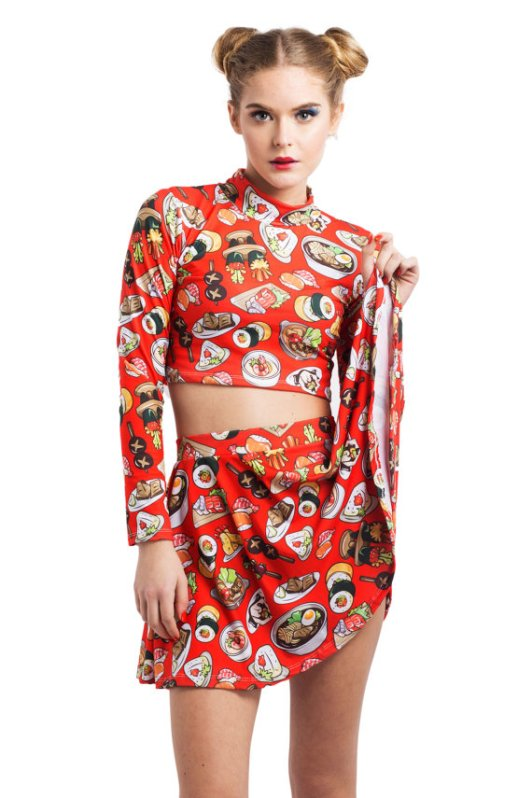 sushi-printed-crop-top