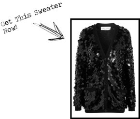 Look For Less: Sequined Wool Cardigan
