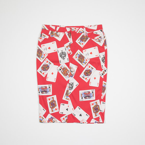 moschino playing cards skirt