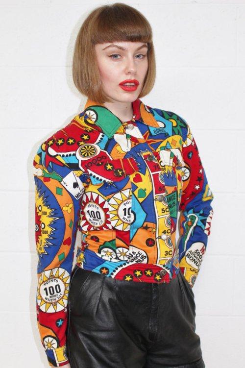 vintage moschino pinball jacket