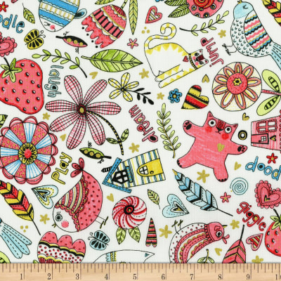 doodle play metallic mixed fabric rjr fashion fabrics
