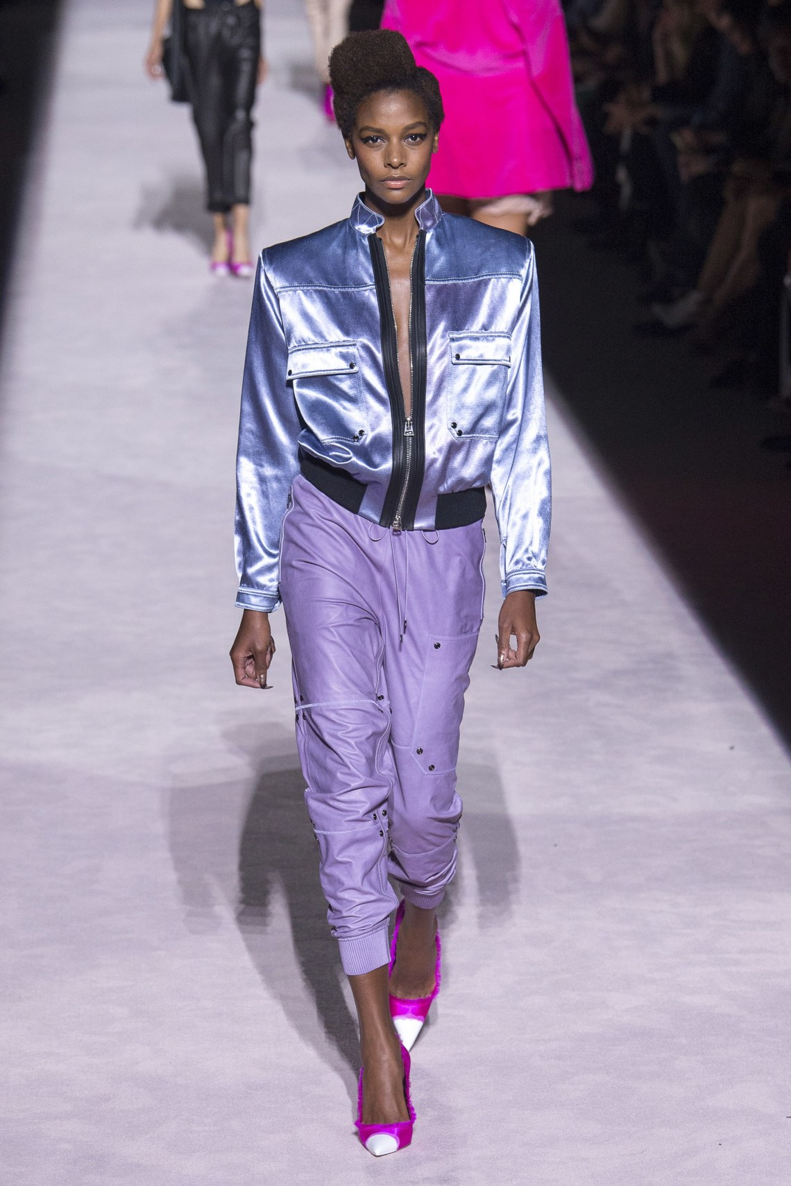 how to style a metallic jacket - tom ford