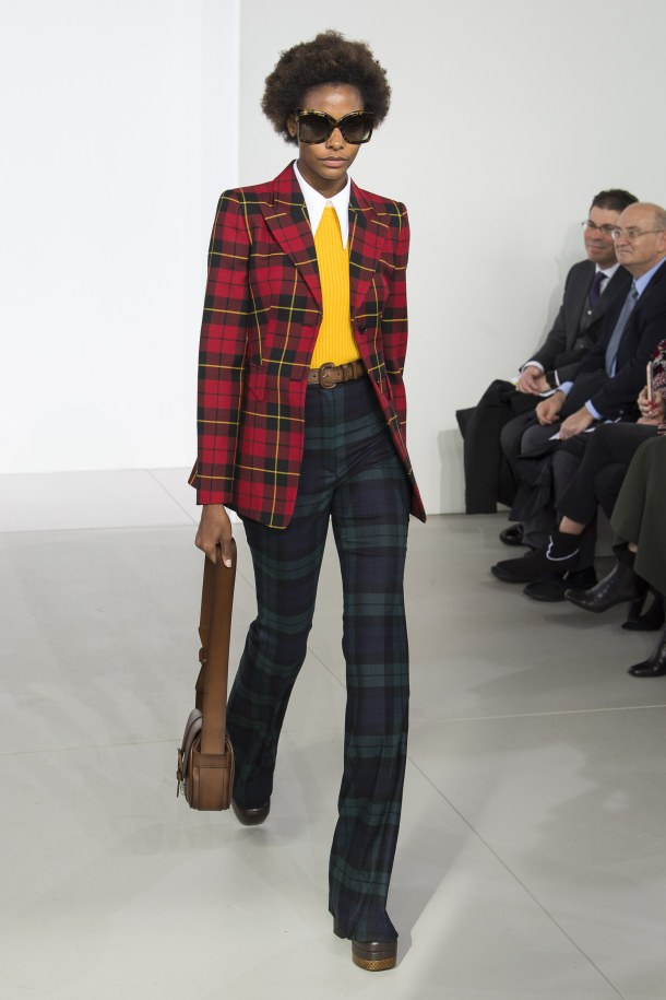 how to style a plaid blazer-michael-kors-fall 2018