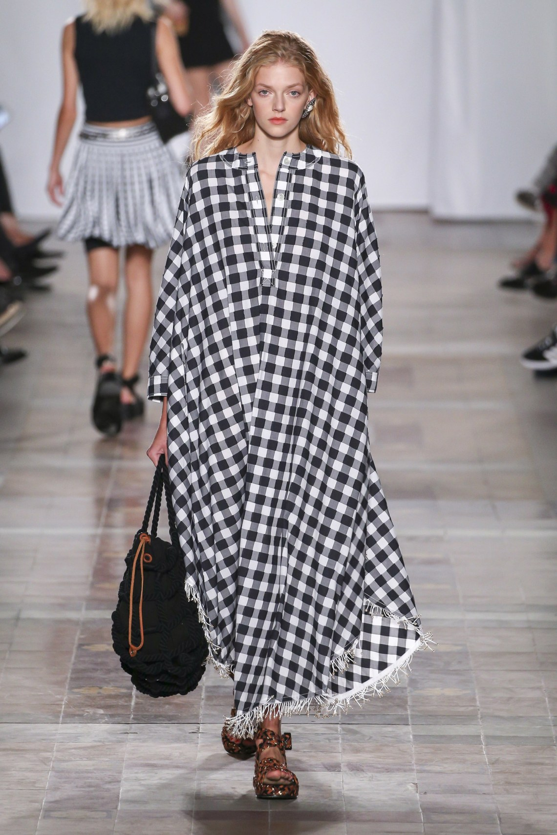 how to style a plaid caftan-sonia rykel