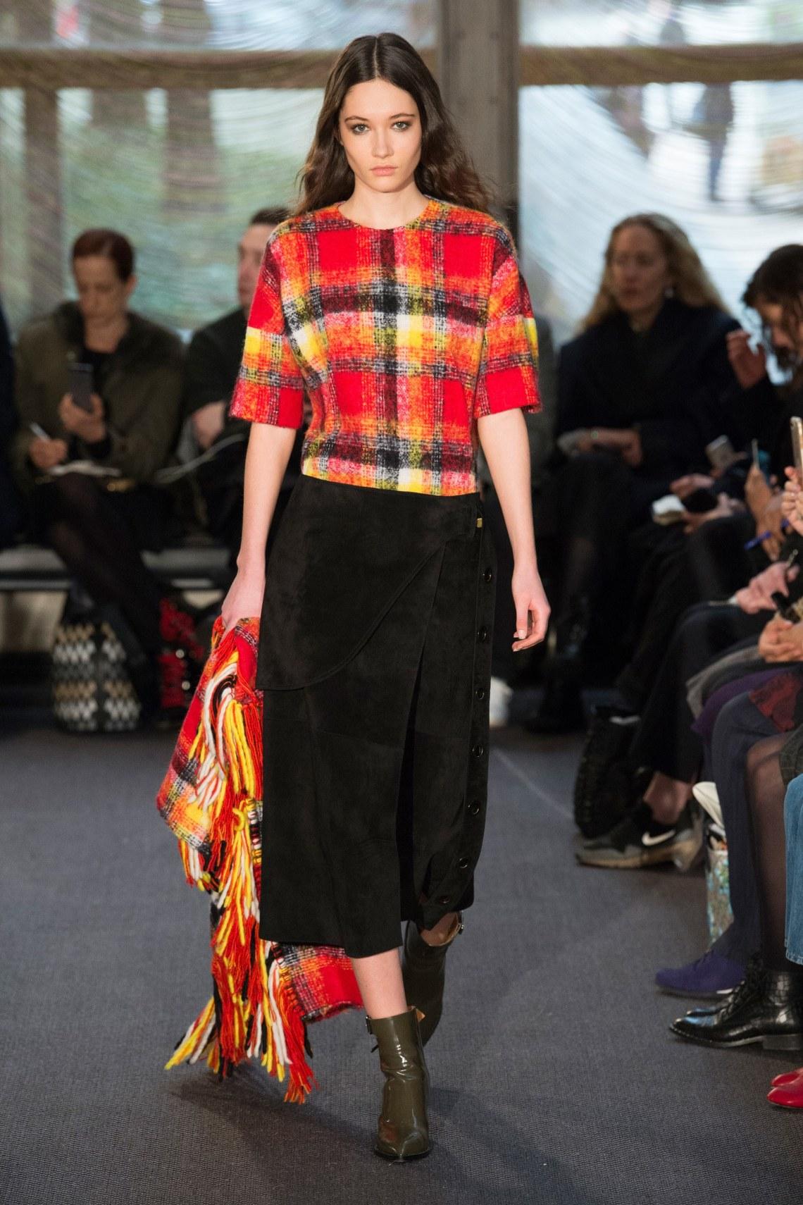 how to style a plaid shirt-derek lam-fall 2018