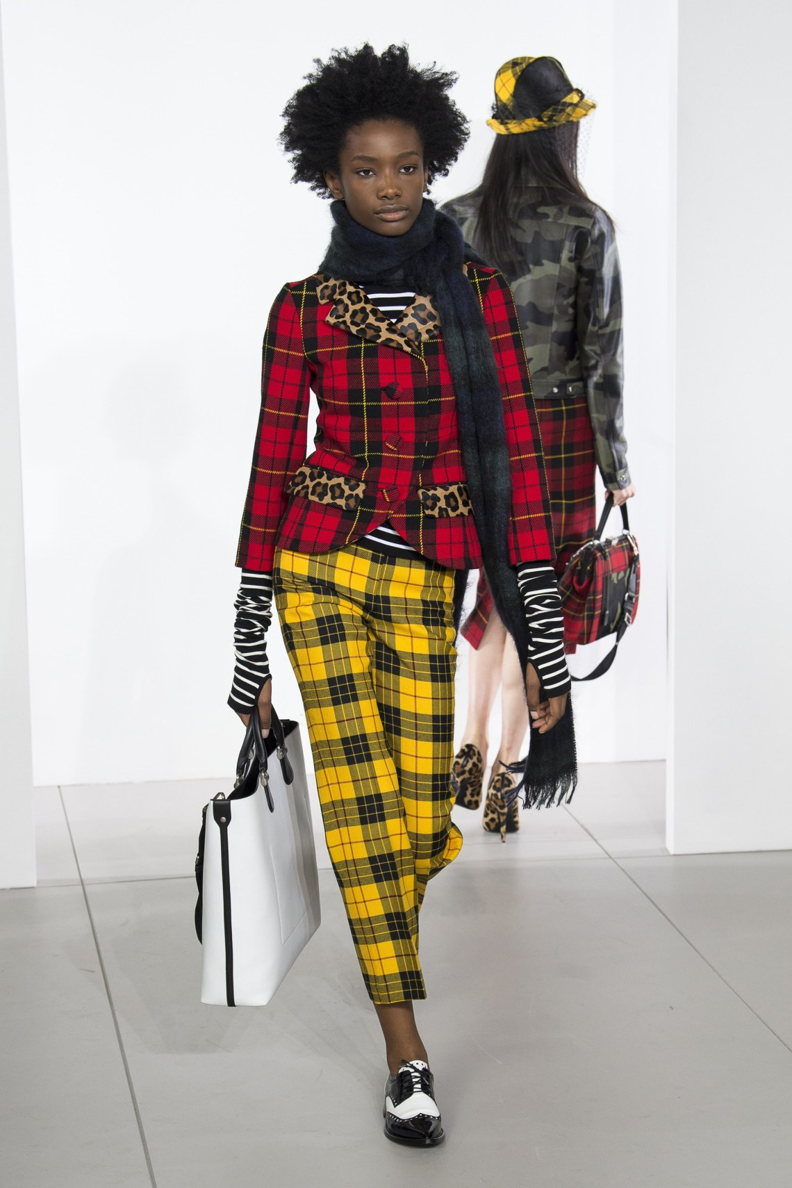 how to style plaid trousers-michael kors-fall 2018