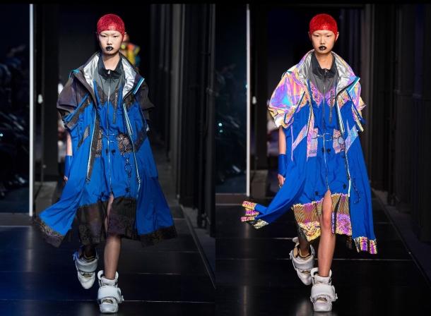 metallic holographic fashion trend