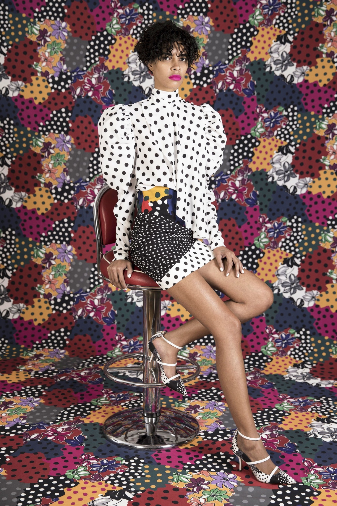 how to style a polka dot shirt-emanuel ungaro