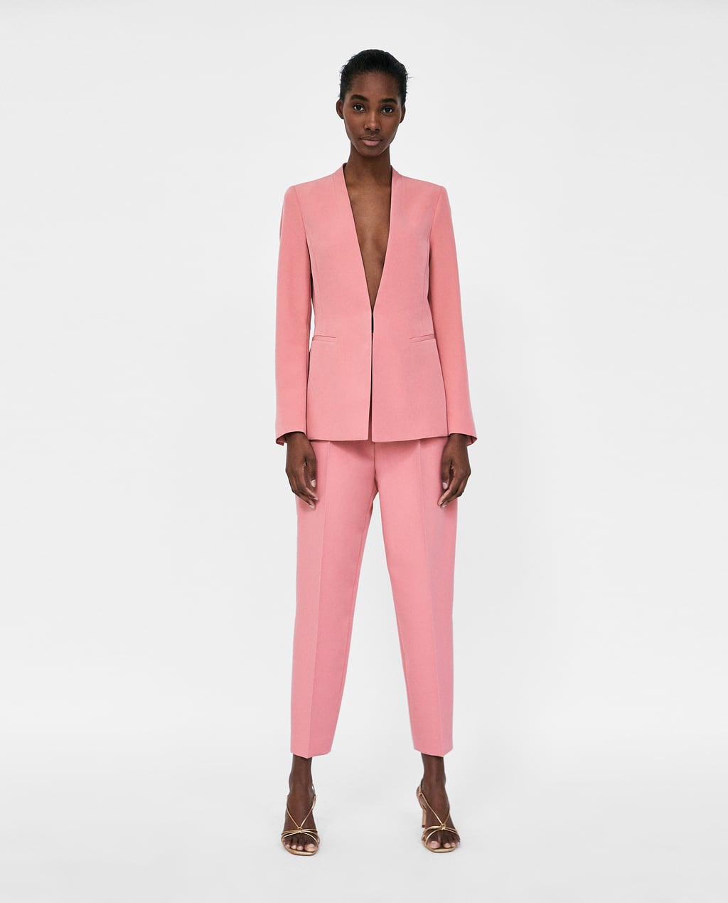 where to buy a pink suit-zara