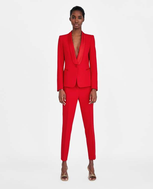 where to buy a red suit-zara pants suit
