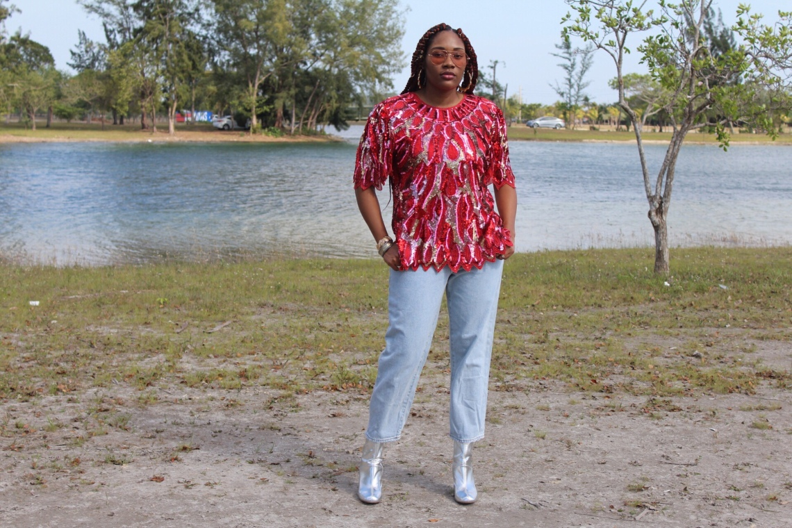 how to style a sequin blouse- how to style silver boots