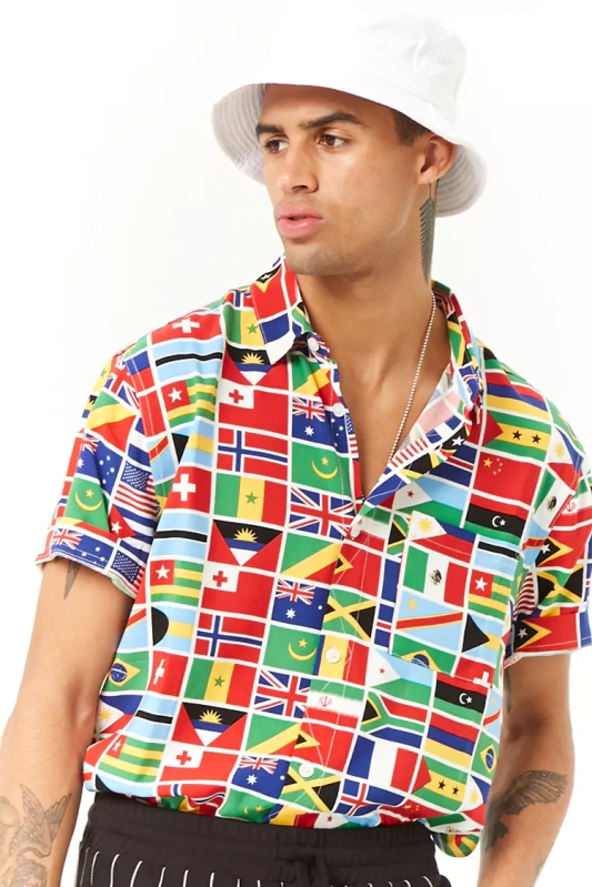 forever flag printed shirt