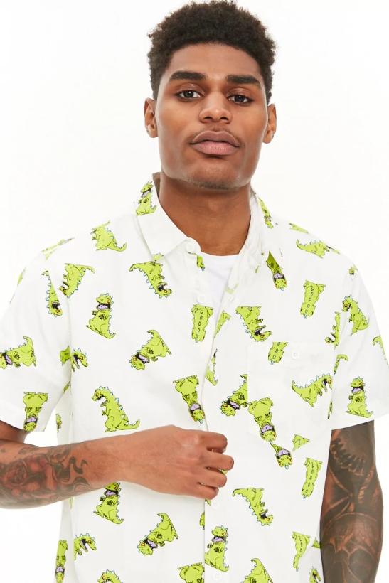 rugrats reptar novelty printed shirt forever21