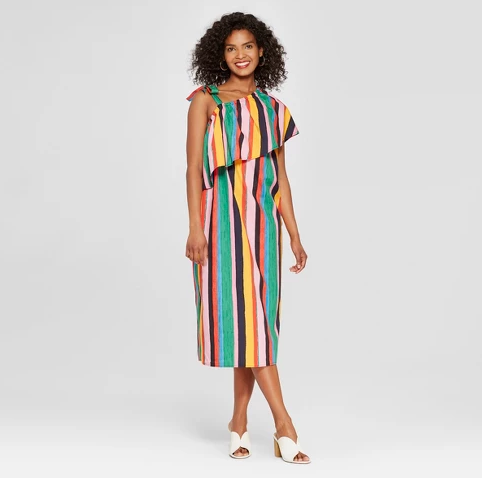 target-multi colored-striped dress