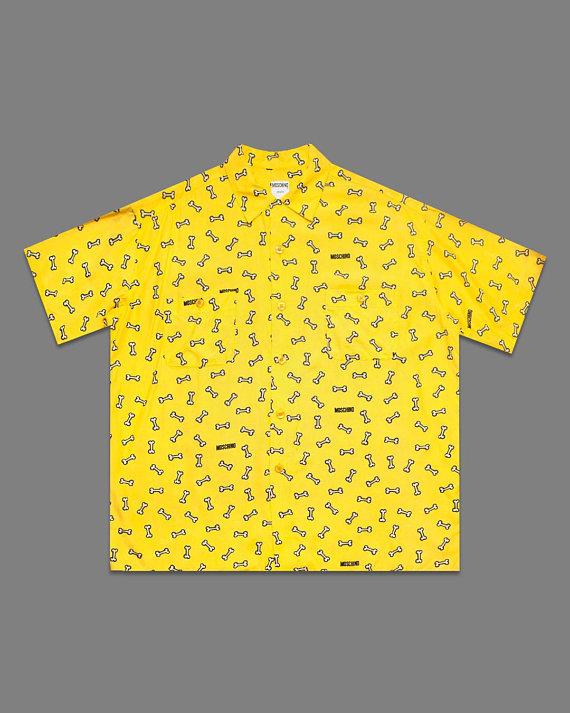vintage moschino dog print shirt- moschino button down