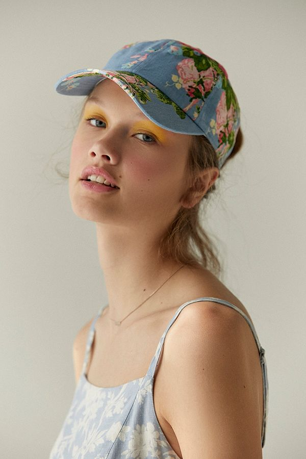 floral cap- laura ashley